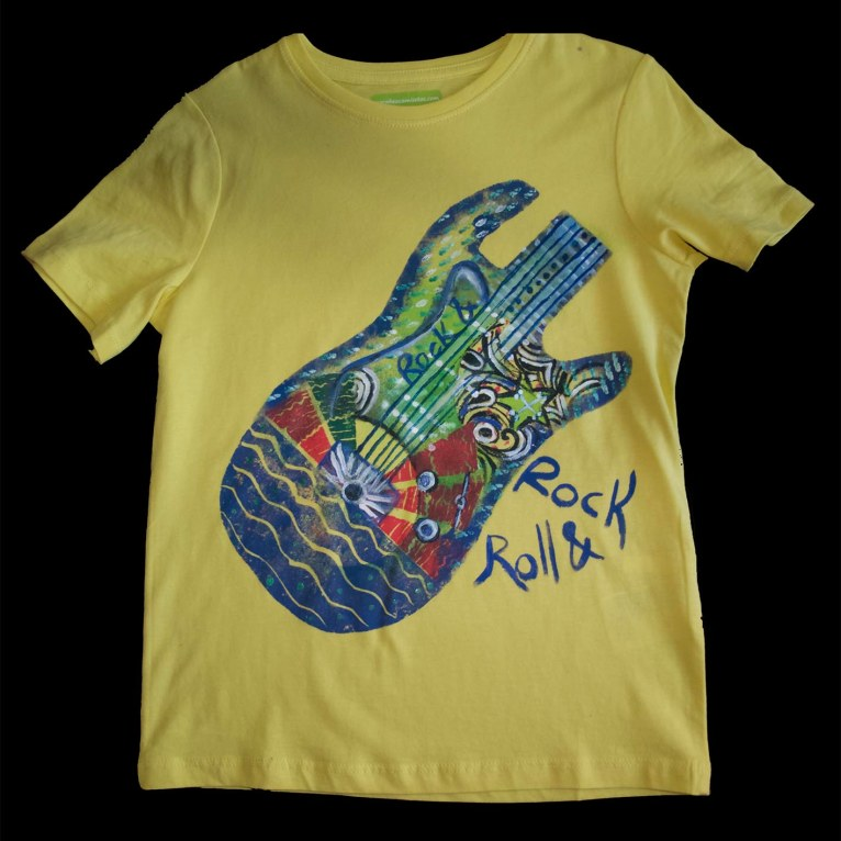 guitarra amarilla 8-10 años
